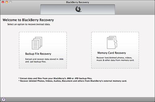 recupero dati blackberry